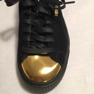 PUMA Black Suede Athletic Sneakers